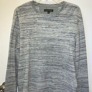 Gray with Black Stripes Banana Republic Shirt